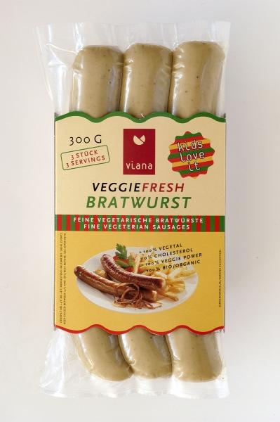 viana veggie fresh bratwurst 3 st ck 300g. Black Bedroom Furniture Sets. Home Design Ideas